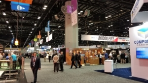 attendees walk around the show at NAFEM